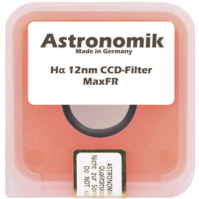 Filtre Astronomik Ha (H-alpha) CCD MaxFR 12nm - 31,75mm (M28)