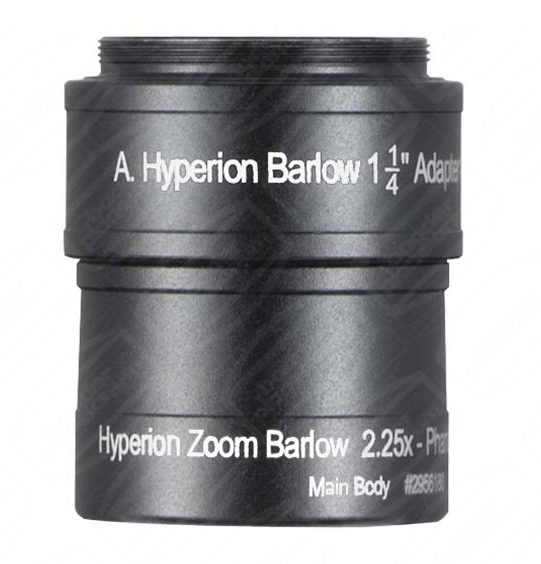 Barlow 2.25 x Hyperion zoom coulant 31,75 mm